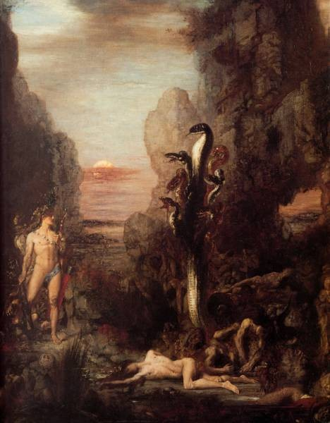 Moreau Hercules and the Hydra 1876